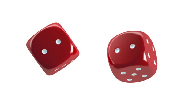 red dices spinning - dice stock videos & royalty-free footage