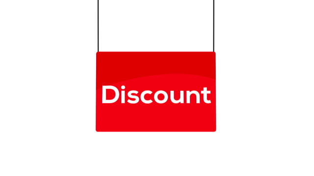 red discount sign - swinging stock videos & royalty-free footage