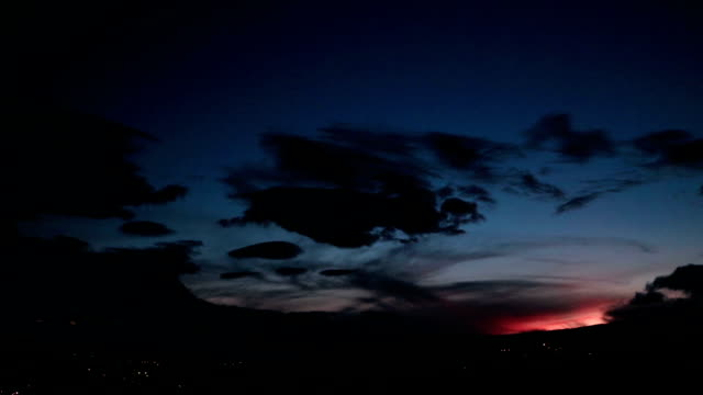 red dusk over the mountains with wide view of sky - horizon over land stock videos & royalty-free footage