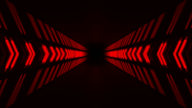 red endless hallway - stage performance space stock videos & royalty-free footage