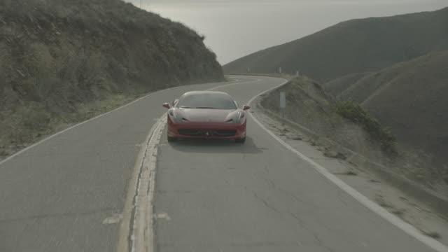 red ferrari - malibu stock videos and b-roll footage