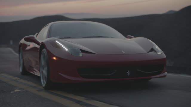 red ferrari - prestige car stock videos & royalty-free footage