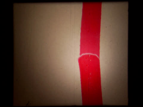 red film grunge ntsc - authentic 16mm white leader - red pen stock videos & royalty-free footage