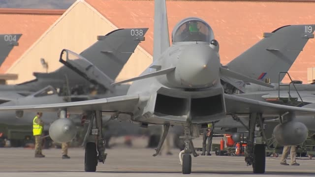 red flag operations on nellis air force base red flag a realistic combat training exercise involving the air forces of the united states and its... - united states airforce stock videos & royalty-free footage