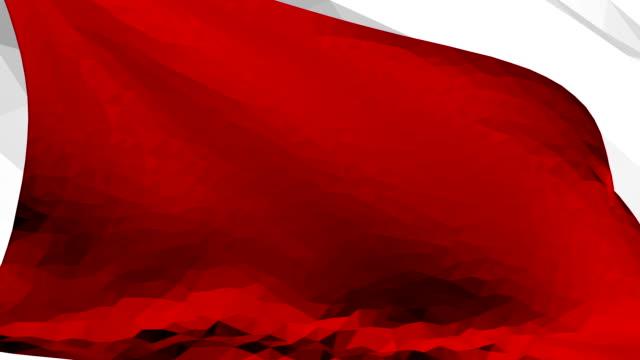 赤い旗 |ポリゴン スタイル |モーション ループ