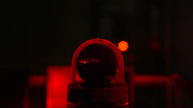 Red flashing light