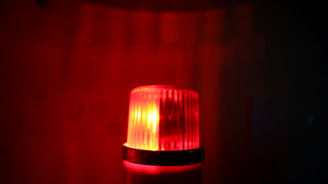 red flashing warning siren light - emergency services - single object stock videos & royalty-free footage