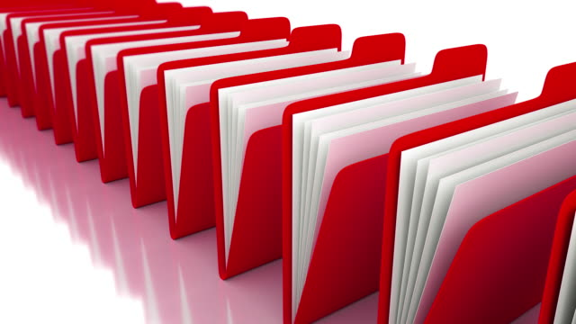 red folders - filing documents stock videos & royalty-free footage