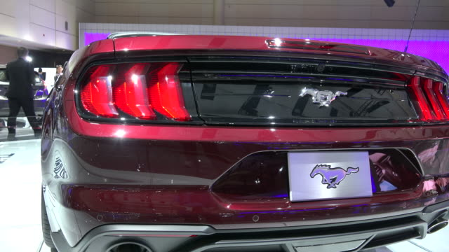 red ford mustang concept car the event is dedicated to canada's 150th anniversary - ford mustang stock videos and b-roll footage
