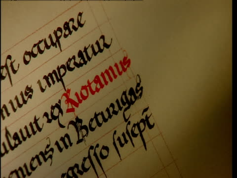 a red fountain pen is used to modify text. - fountain pen stock videos & royalty-free footage