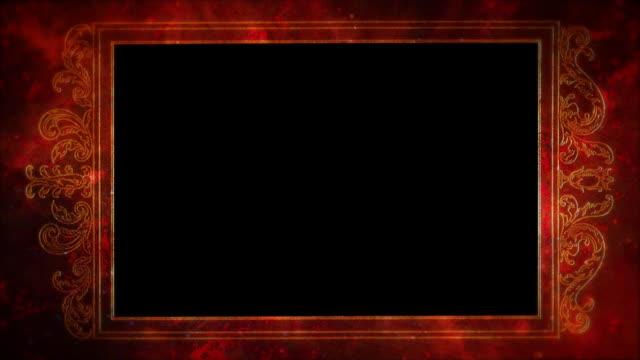 vídeos y material grabado en eventos de stock de bastidor rojo mate, v01 - marco