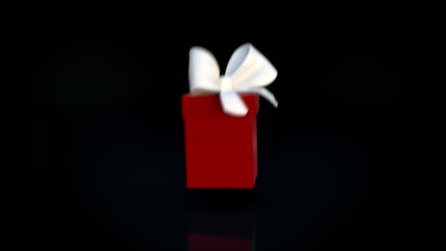 red gift box opening animation and zoom in camera action - gift stock videos & royalty-free footage