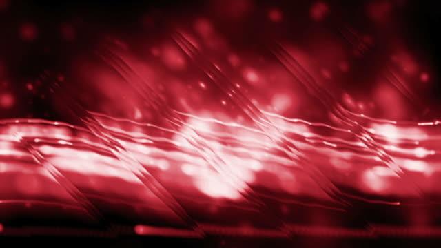 vídeos de stock, filmes e b-roll de fluxo de águas espelhadas vermelho fundo de loop - squiggle