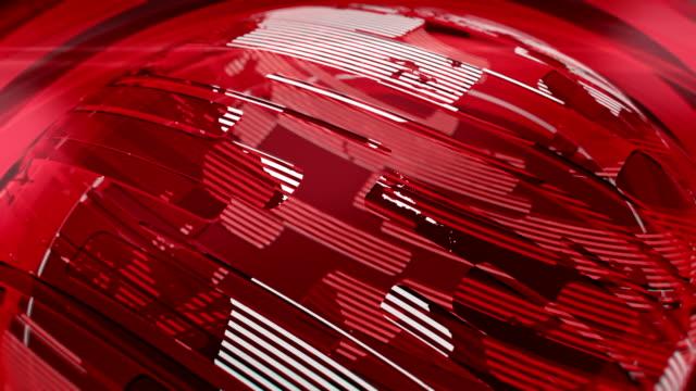 stockvideo's en b-roll-footage met red glossy globe - perskamer