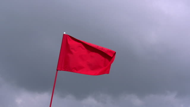 """red golf flag in the wind, near sciacca in sicily, italy, slow motion"" - flag stock videos & royalty-free footage"