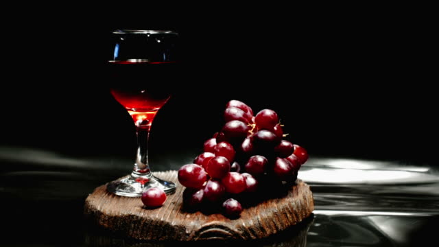 Red grape and wine