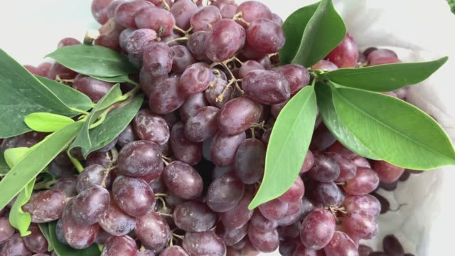 red grapes are for sale in the fresh market. - red grape stock videos & royalty-free footage