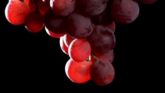 hd: red grapes rotating - red grape stock videos & royalty-free footage