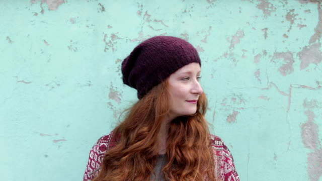 red hair woman with smart phone - only teenage girls stock videos & royalty-free footage
