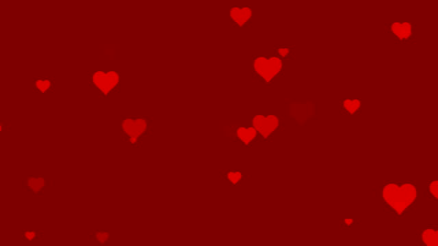 red heart particles background - valentines background stock videos & royalty-free footage