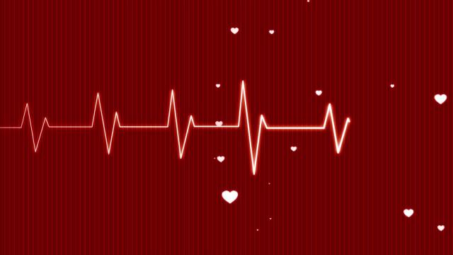Red Hearts Pulsing HD PAL