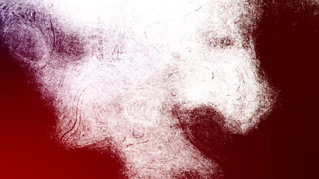 red high contrasted blizzard grungy and dirty, animated, distressed and smudged stormy sky, clouds 4k video background with swirls and frame by frame motion feel with van gogh style - smudged stock videos & royalty-free footage