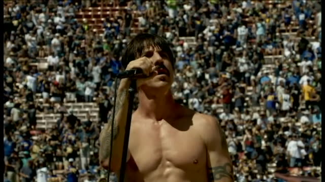 KTLA Red Hot Chili Peppers Perform at LA Rams' First NFL Game