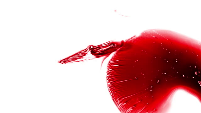 red ink flowing in water, abstract, 4k stock video - splashing droplet stock videos & royalty-free footage