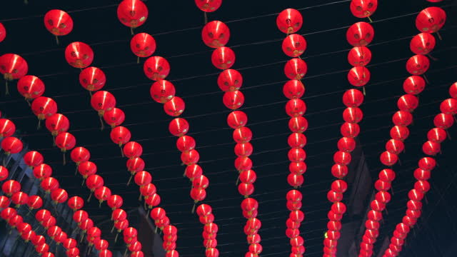 red lantern in the night - lantern stock videos & royalty-free footage