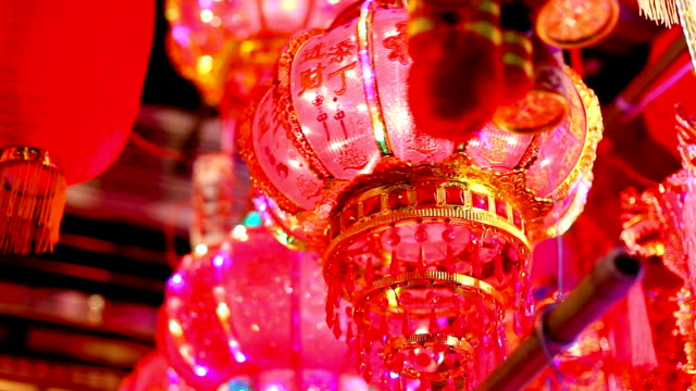 red lanterns in chinese new year - tradition stock videos & royalty-free footage