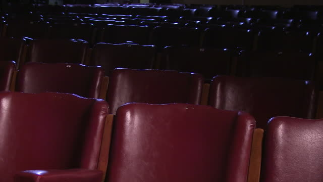 red leather chairs - theatre building stock videos & royalty-free footage