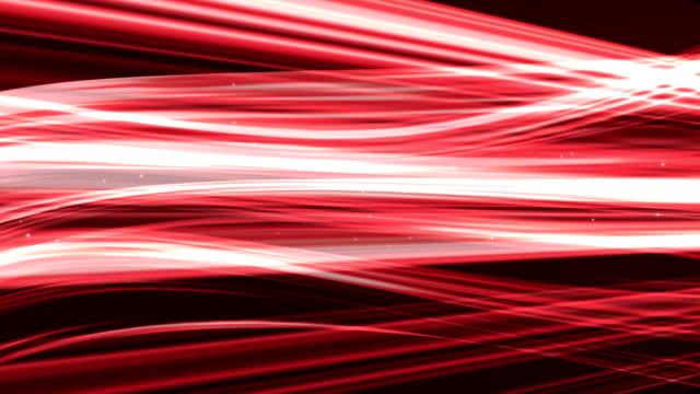 Red light streaks abstract background animation