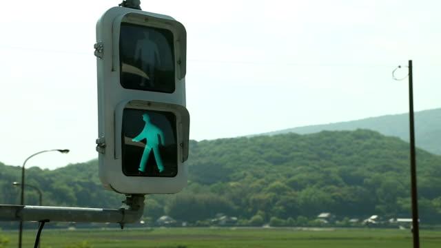 red light - crosswalk sign stock videos & royalty-free footage