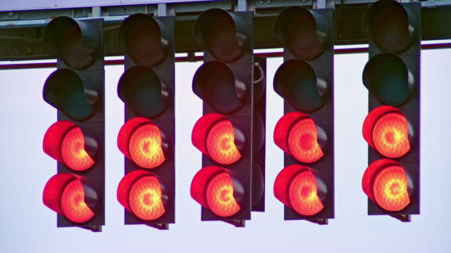 ld red lights on the start light at the formula race - repetition stock videos & royalty-free footage
