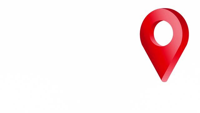 rotes location pin pointer animiertes cartoon-symbol - wegweiser stock-videos und b-roll-filmmaterial