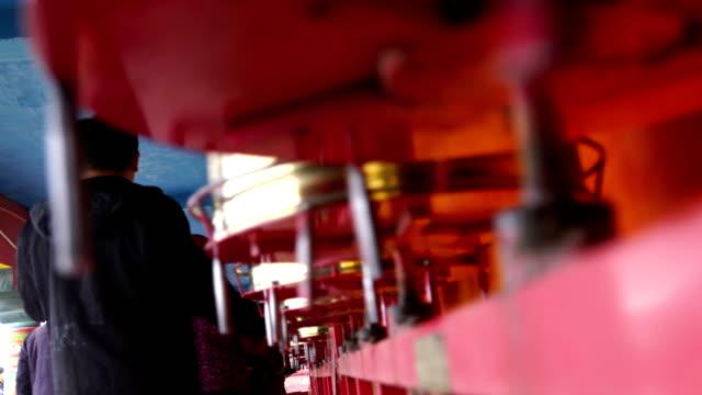 red log cabins at seda wuming tibetan buddhist institute - seda stock videos & royalty-free footage
