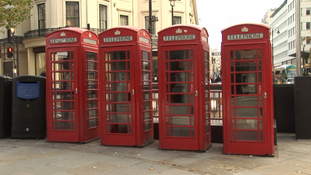 Rote Telefon Box in London-HD & PAL
