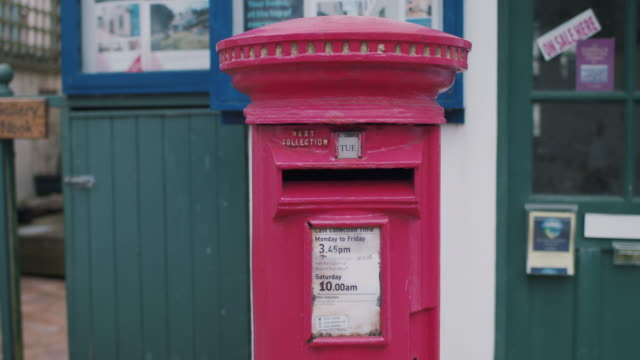 red mailbox - correspondence stock videos & royalty-free footage