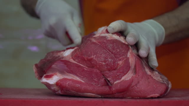 red meat - slaughterhouse stock videos & royalty-free footage