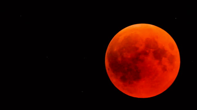 red moon eclipse/super blood moon - lunar eclipse time-lapse - astronomy stock videos & royalty-free footage