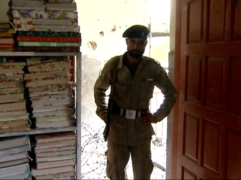 destroyed and damaged buildings captured weapons and burials of militants various views of damage to interior courtyard of mosque various views of... - madressa stock videos and b-roll footage