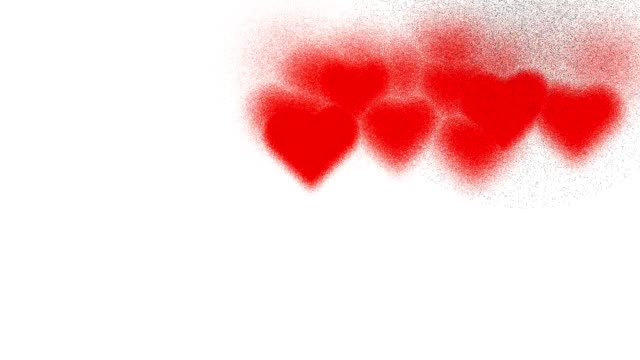 HEARTS : red, one broken heart black, white back (TRANSITION)