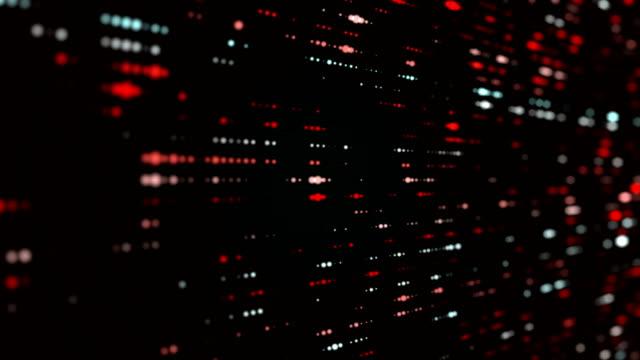 vídeos de stock, filmes e b-roll de partículas de vermelho, partícula fundo-loopable - elementos circulares