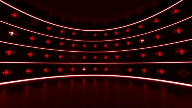 vidéos et rushes de fond rouge de lumières de partie - spot
