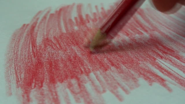 red pencil - writing instrument stock videos & royalty-free footage