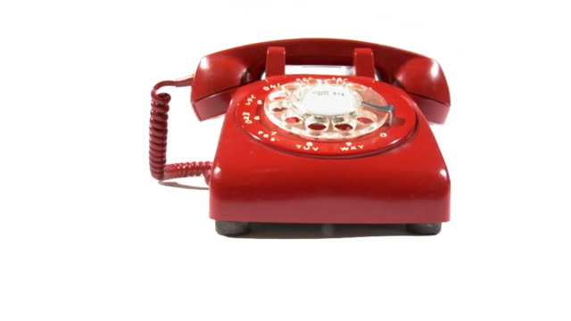 red phone ringing and moving.. - rotary phone stock videos and b-roll footage