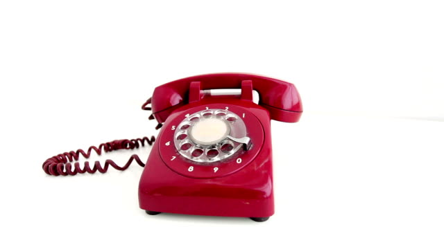 red phone - rotary phone stock videos and b-roll footage
