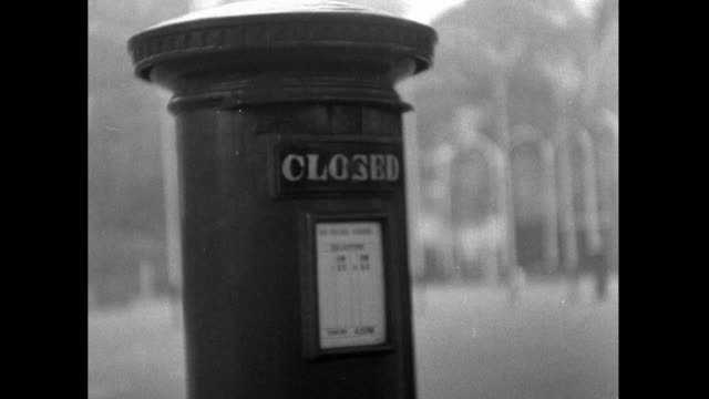 red postbox with closed sign across letter slot; 1953 - 1953 stock videos & royalty-free footage
