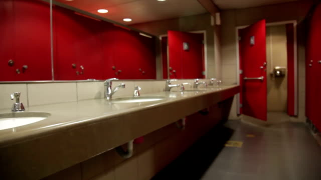 red public rest room, wc - public restroom stock videos and b-roll footage