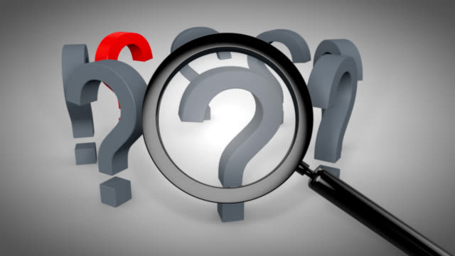 red question mark with magnifying glass - question mark stock videos & royalty-free footage